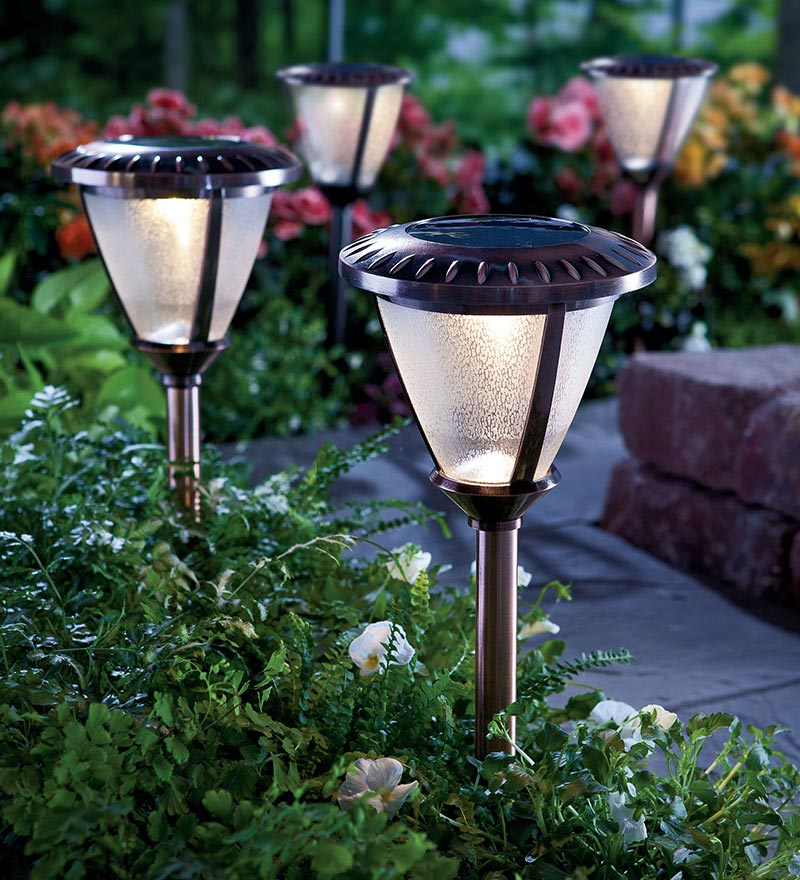 small solar walkway lights