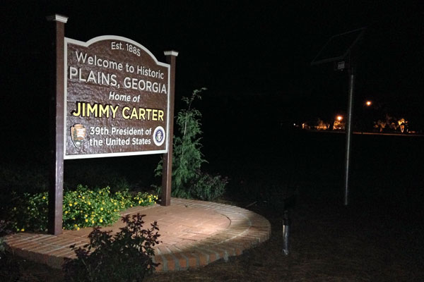 Jimmy Carter Sign ALF Solar Light Night