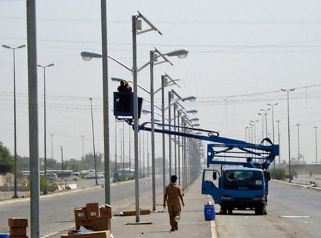 Solar Street Light Fallujah Iraq