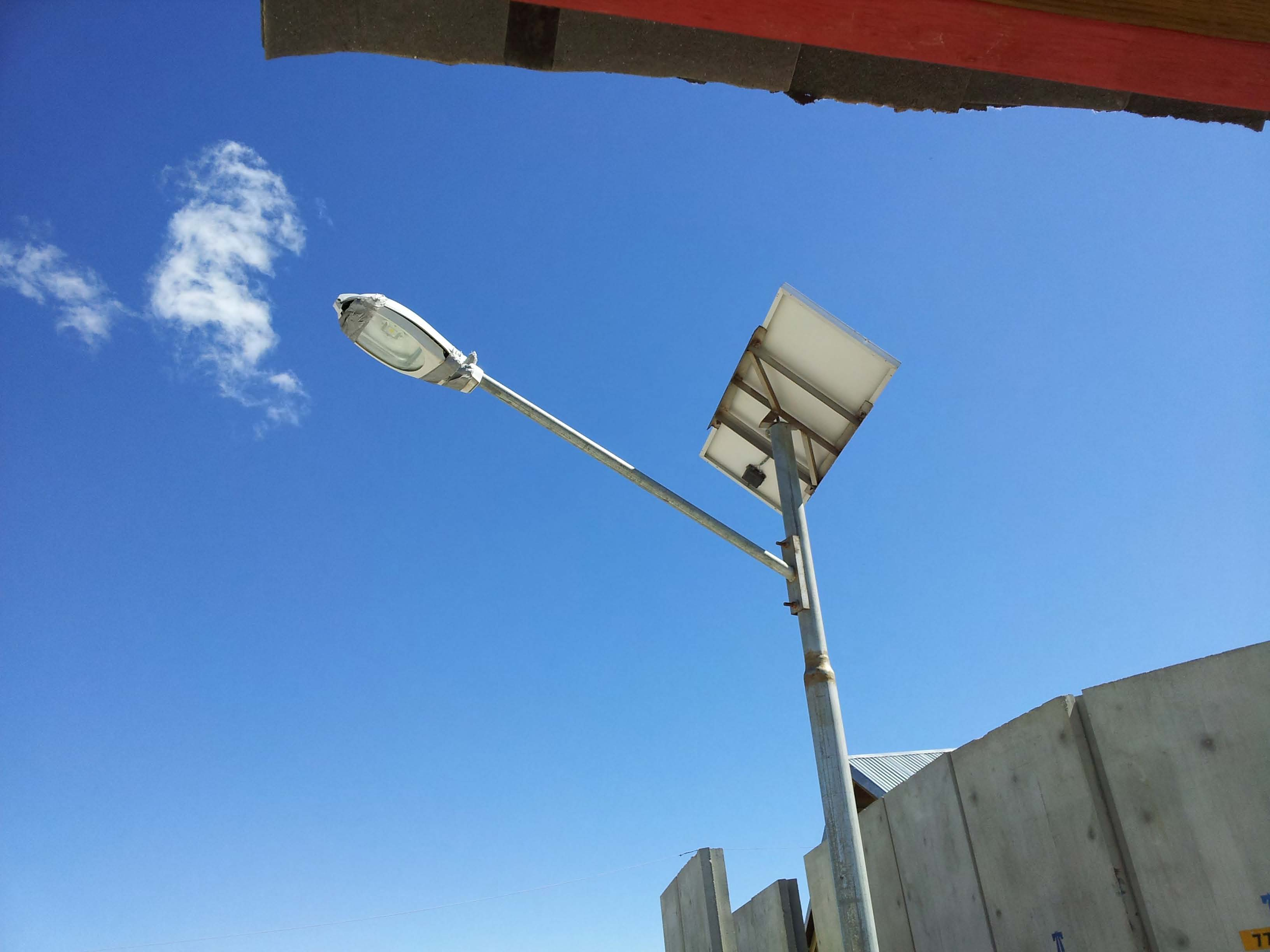 Tape on Solar Light Fixture