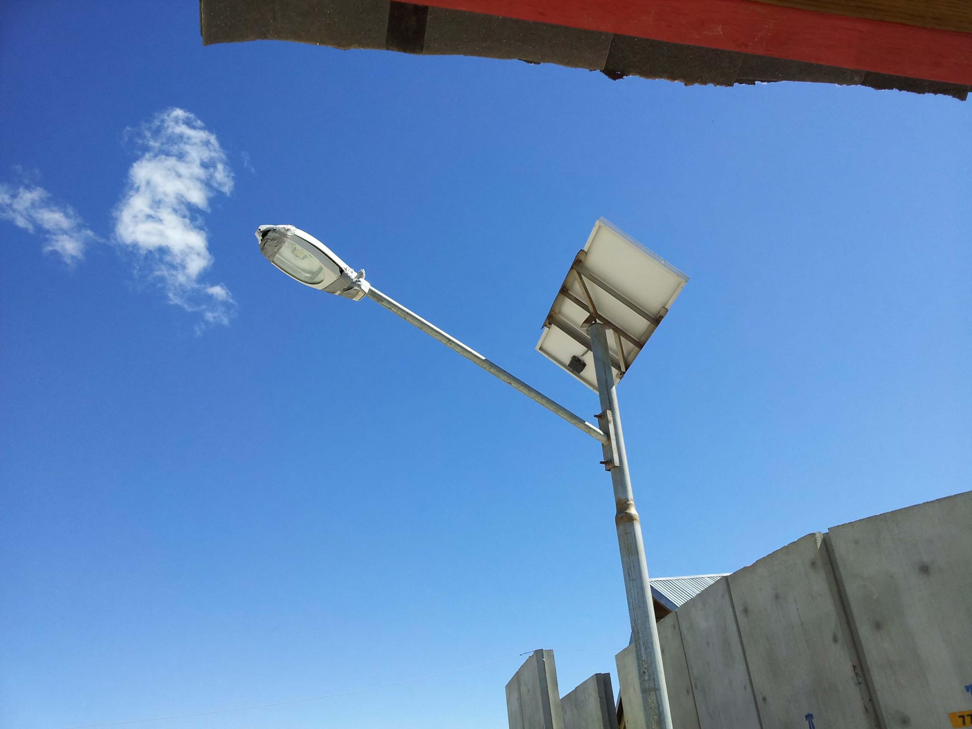 Tape on Solar Light Fixture