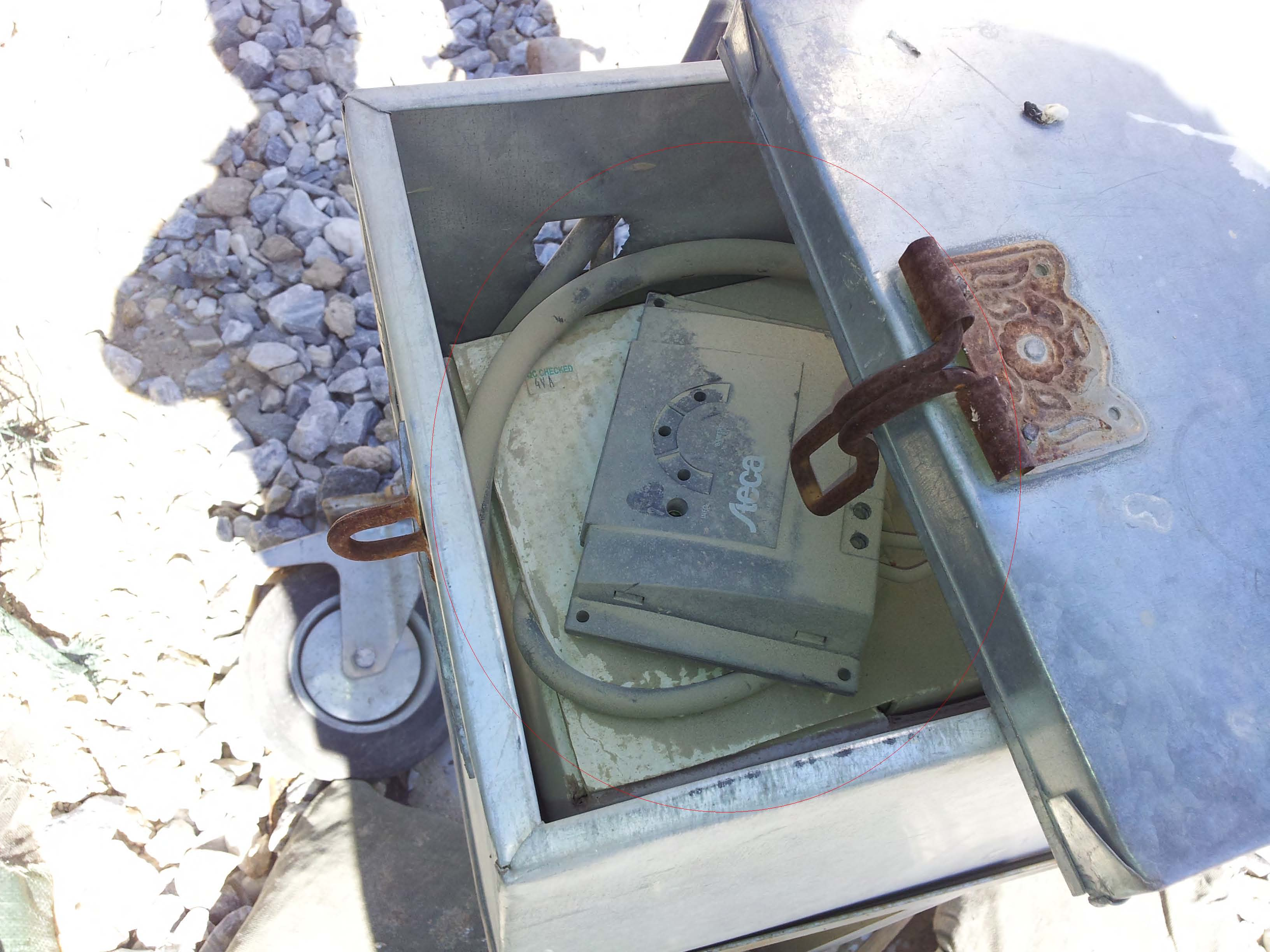 Rusty Solar Battery Box