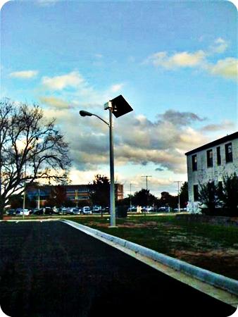 Parking Lot Solar Light Security