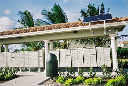 Subdivision Mailbox Solar Powered Lighting