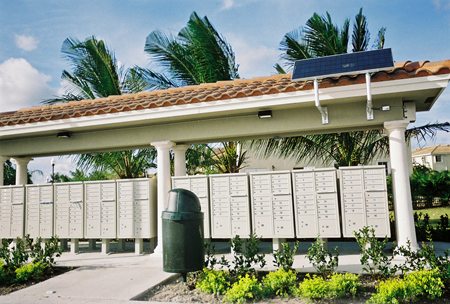 Subdivision Mailbox Solar Powered Lighting