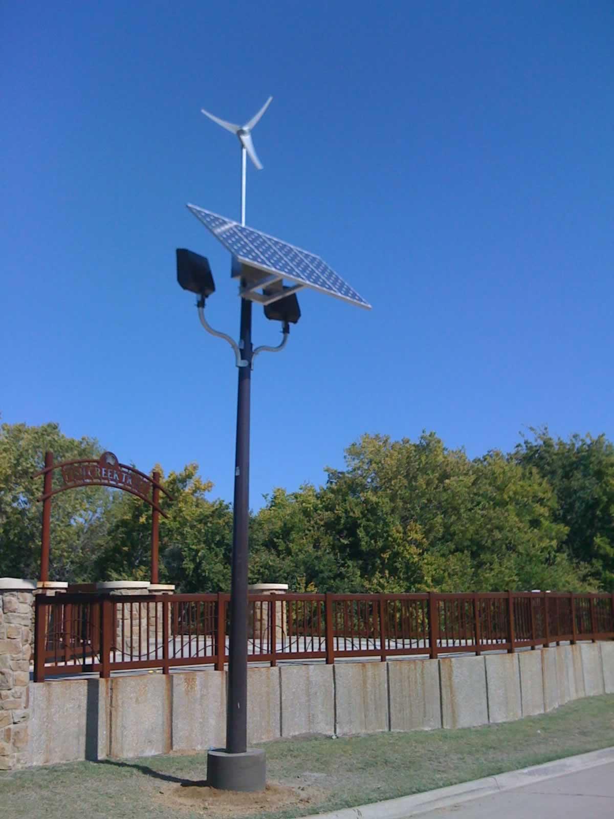 Solar Wind Hybrid Light