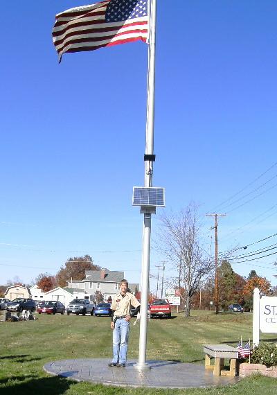 Solar Flag Pole Light