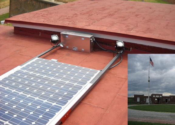 Solar Flag Light for Fort McHenry