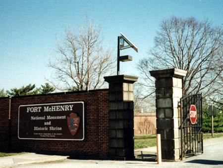 Solar Powered Light at Fort McHenry Front Gate