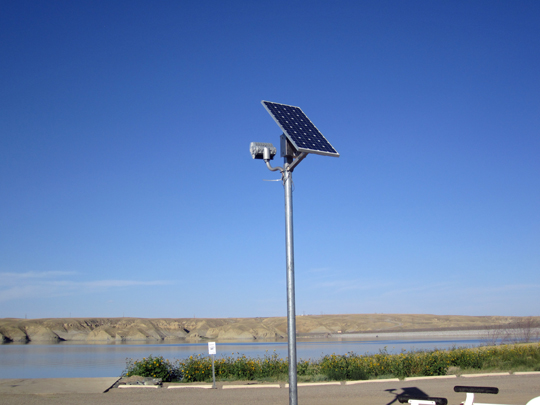 Solar Flood Light Tiber Reservoir