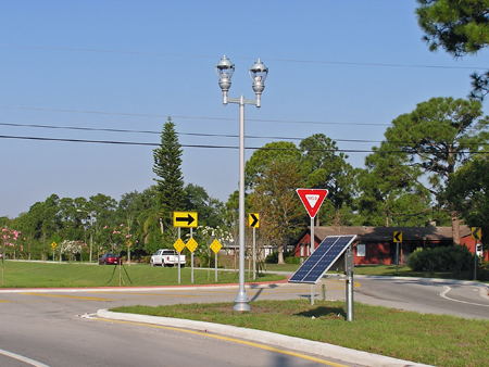 Lamp Post Solar Lights