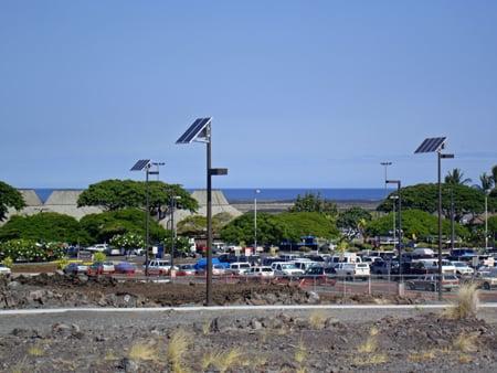 Solar Parking Lot Lights Kona Airport