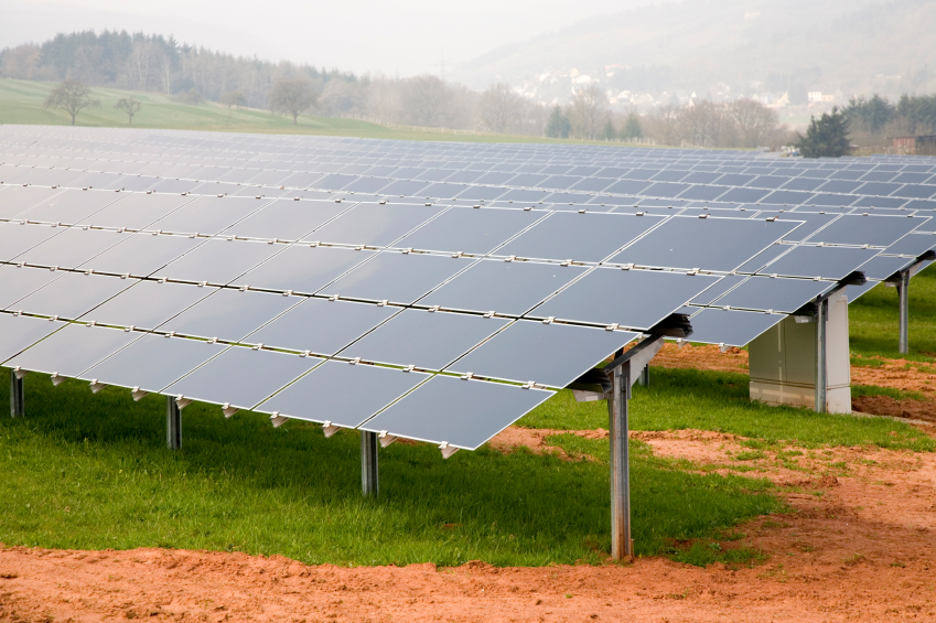 Solar Power Array Ground Mount