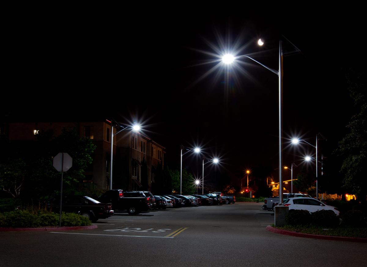 Solar Parking Lot Light