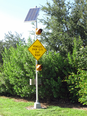 Solar Powered Traffic Flasher