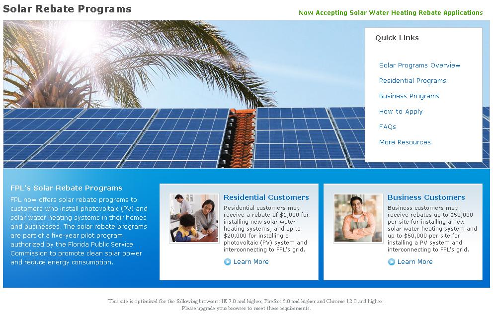 Solar Rebate Program