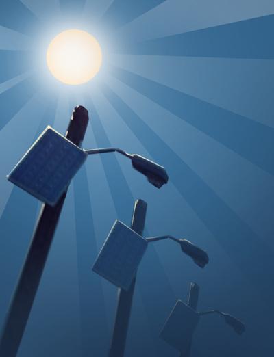 Solar Powered Security Lights