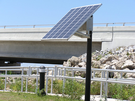 Bollard Light Solar Powered