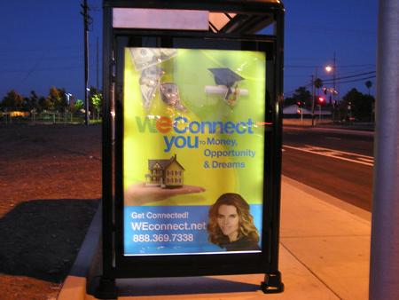 Solar Bus Shelter Advertisement