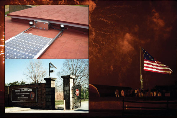 Fort McHenry Flag and Street and Parking Lot Lighting