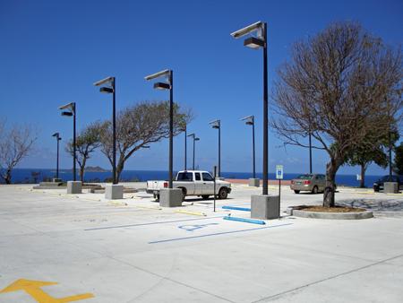 USVI Solar Lighting for Parking Lot