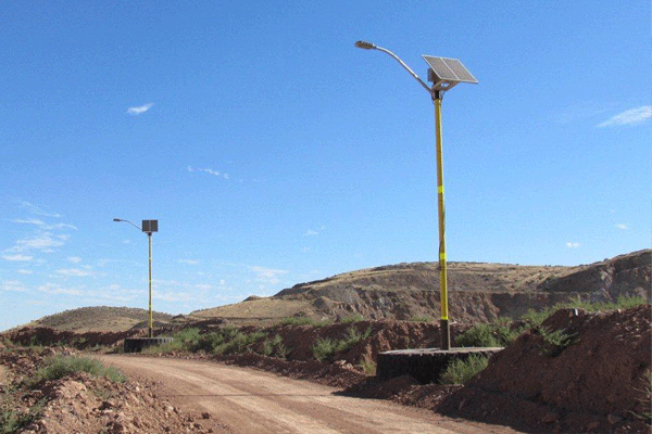solar led street light for industrial mining