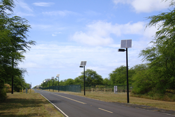solar powered roadway lights