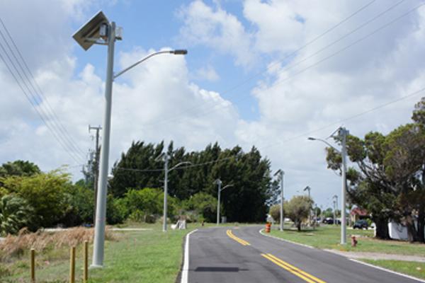 solar led street lighting for martin county airport