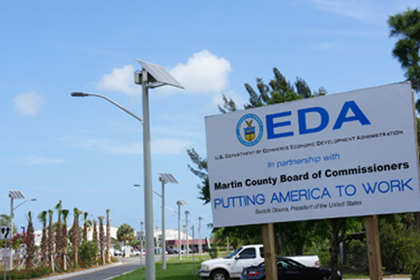 solar led lighting for martin county airport