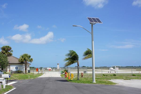 martin county airport solar led street lighting