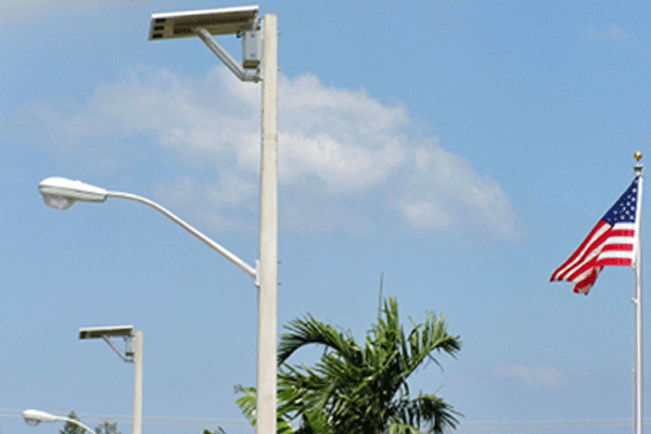 Hurricane rated solar street lights for dania beach