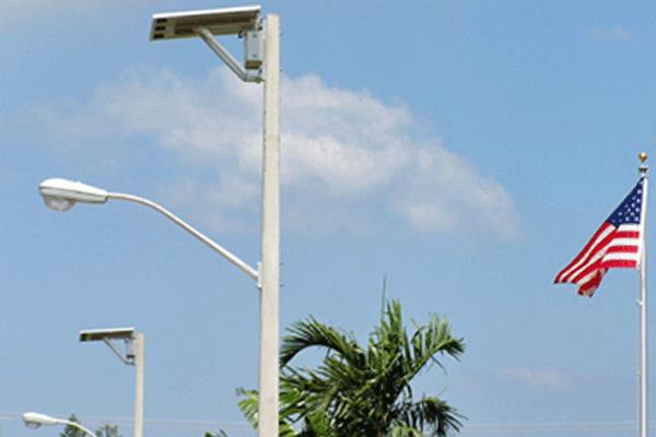 Hurricane rated solar street lights for dania beach