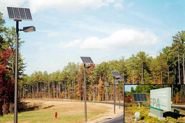 Solar roadway lighting at US EPA Headquarters