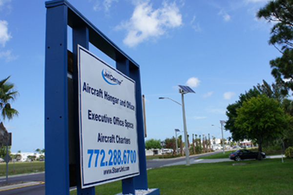 solar lighting for martin county airport