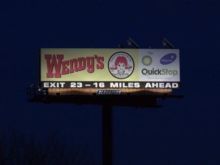 10 x 36 Solar Billboard Light at Night