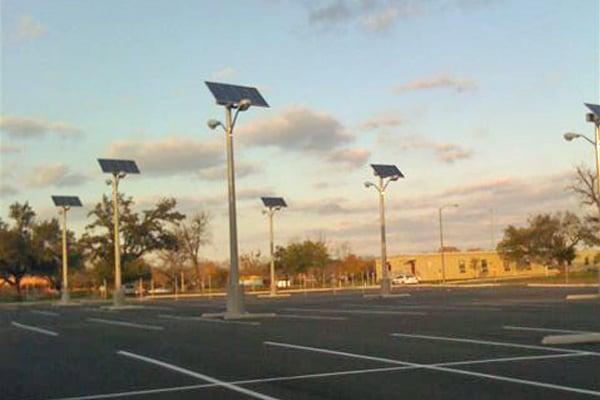 VA Temple TX Solar Parking Lot Lighting