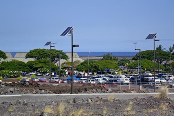 airport solar powered parking lot lights