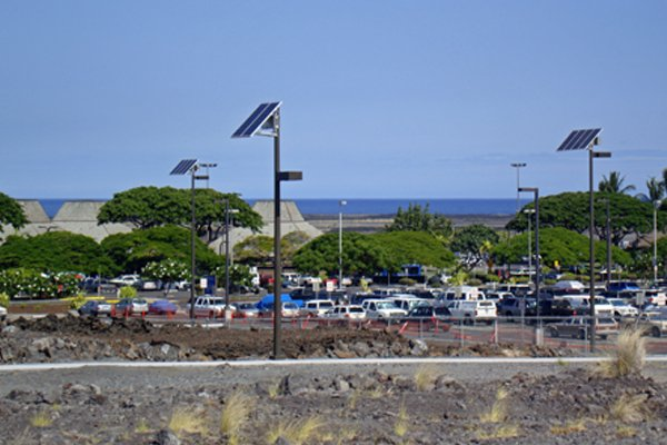 airport solar powered parking lot lights