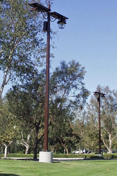 solar light for parking lot at Anaheim hills golf course