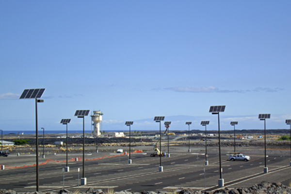 wildlife friendly solar powered parking lot lights