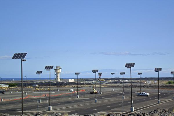 wildlife friendly solar powered parking lot lights