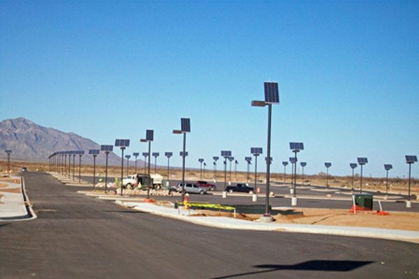 solar outdoor parking lot lighting metal halide