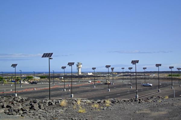 dark sky compliant solar powered parking lot lights