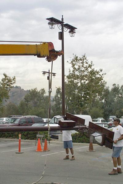custom solar light for parking lot