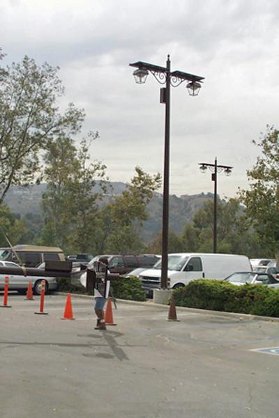 solar light for parking lot at golf community
