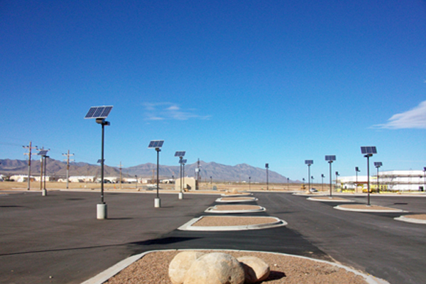 solar outdoor parking lot lighting