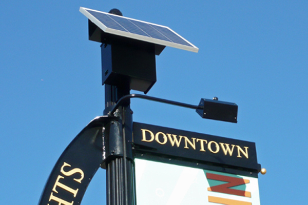 Solar Banner Sign Light