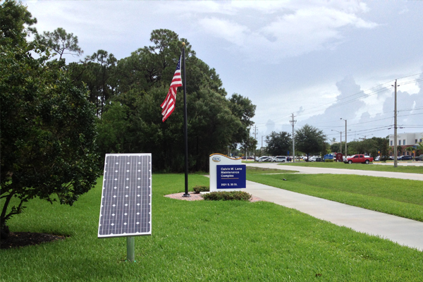 solar led sign light for IRSC
