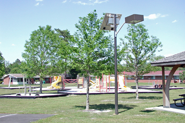 NWS Charleston Solar LED Lighting Solutions for Playground