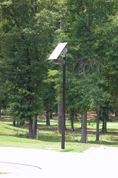 solar light for parking lot at jack mclean park